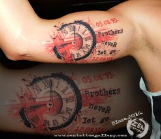 Brothers; trash polka tattoo by Blaze www.facebook.com/zentattoozagreb www.zentattoogallery.com