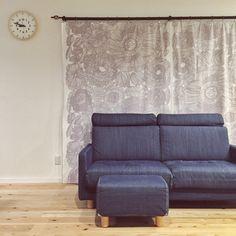 Tsubasaさんの、marimekko,手作り,カーテン,クルイェンポルビ,無印良品 ソファ,Lemnos,リビング,のお部屋写真