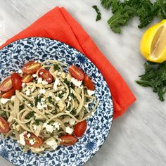 20 Minute Dinner: Creamy Kale, Chicken and Hummus Spaghetti