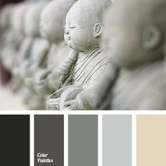 black, color of silver, color of wet asphalt, color palette, color palette for house, dark gray, gray, gray and yellow, off-gray, pale gray, selection of color, shades of gray, shades of gray color.