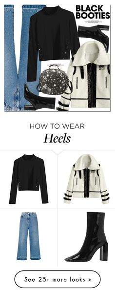 """Back to Basics: Black Booties"" by oshint on Polyvore featuring MSGM, awesome, cool, fabulous, blackbooties and zaful"