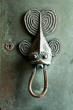 Fish door knob by tamara