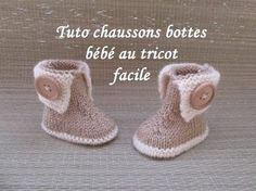 Stivali da bambino a maglia bootie TUTO CHAUSSONS BOTTES BEBE TRICOT FACILE - Uncinetto Knitting , lace processing is the most beautiful hobbies that women are not able to give up. Baby Knitting Patterns, Baby Booties Knitting Pattern, Knitting Stitches, Crochet Patterns, Knitted Baby Boots, Knit Baby Booties, Knit Boots, Bootie Boots, Ugg Boots