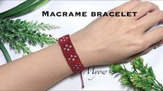 DIY - macrame tutorials - Let's make your own bracelet step by step with Myow handmade In this video, we will need: - Waxed cord - Beads ( - A p. Macrame Earrings, Macrame Bracelets, Macrame Cord, Macrame Jewelry, Handmade Bracelets, Macrame Knots, Loom Bracelets, Micro Macrame Tutorial, Macrame Bracelet Tutorial