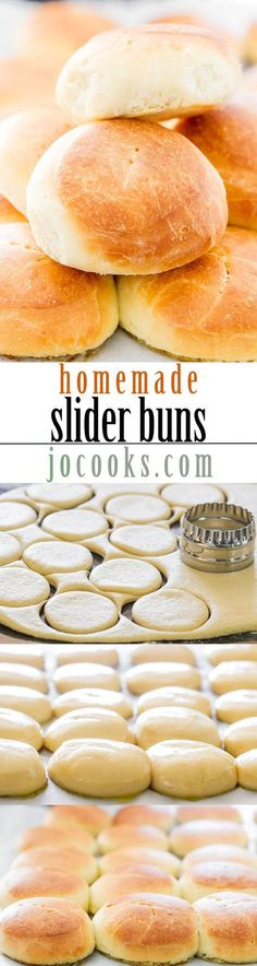 Homemade Slider Buns - nothing beats a homemade bun, the aroma of bread baking in the oven, the warm buns, there's nothing better.