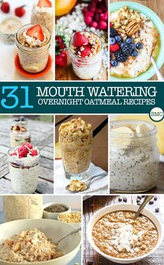 One Whole Month of Easy Overnight Oatmeal Recipes for Kids to Eat for Breakfast!