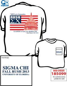 Sigma Chi Rush Shirt by James