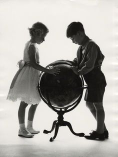Princess Anne and Prince Charles | photographed by Lord Snowdon | bromide print, 1956