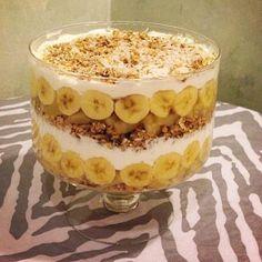 Passover:  Really Easy Passover Granola, Banana, Fruit and Cream Trifle