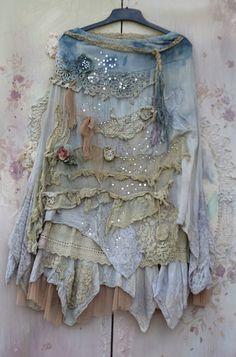RÉSERVÉ-soldejupe Barocco  romantique jupe longue par FleursBoheme