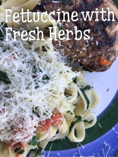 Fettuccine with Fresh Herbs – I Read Cookbooks for Fun Fresh Herbs, Cabbage, Vegetables, Fun, Cabbages, Vegetable Recipes, Brussels Sprouts, Veggies, Sprouts