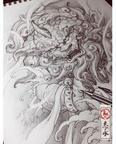 "96 Me gusta, 2 comentarios - Zhiyongma. 志永刺青. MA ART D.O.O (@zhiyong_tattoo) en Instagram: ""#foodog#drawing#Blackandgreytattoo#asiantattoo#europeantattoo#Asianink#chinesetattoo#japanesetattoo#maart#Slovenia#worldofpencils#sketch#illustration#irezumi#tattoolife#tattooartist"""