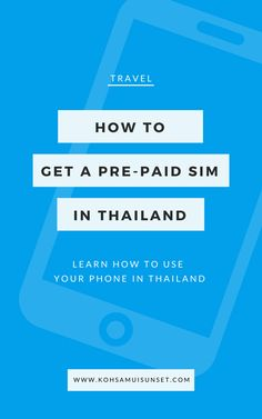 6 tips for using your phone in Thailand: Find out how to get a Thai SIM card, plus tips to use your phone and get pre-paid data while you're in Thailand. Bangkok Thailand Nightlife, Thailand Travel Tips, Visit Thailand, Hawaii Travel, Croatia Travel, Italy Travel, Thai Islands, Thailand Adventure