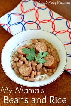 Mama's Pinto Beans and Rice with Sausage Mama's Pinto Beans and Rice with Sausage Slow Cooker Bbq, Slow Cooker Recipes, Crockpot Recipes, Soup Recipes, Dinner Recipes, Cooking Recipes, Healthy Recipes, Cheap Recipes, Cooking Games