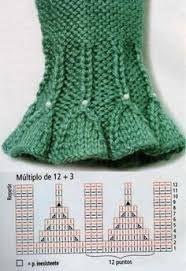 Knitting result for smocking pattern - Knitting and Crochet Baby Knitting Patterns, Knitting Stiches, Knitting Charts, Lace Knitting, Knitting Designs, Knitting Projects, Knit Crochet, Crochet Patterns, Wrist Warmers
