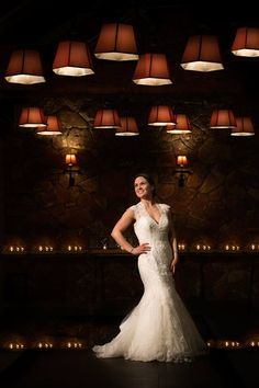 An end of the reception portrait of a breathtaking bride and her phenomenal venue.
