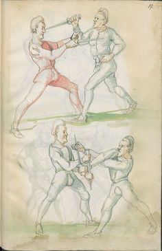 The century manuscript, listed simply as: 'Fechtbuch: Libr. Medieval Manuscript, Medieval Art, Medieval Times, Medieval Drawings, Historical European Martial Arts, Historical Art, Renaissance, Fight Techniques, Illustrations