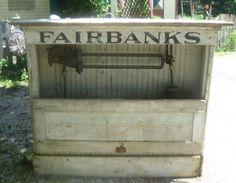 Antique Fairbanks Morse Platform Scale Columbus Architectural Salvage Vintage