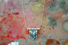Tribal Inspired Cheveron Necklace