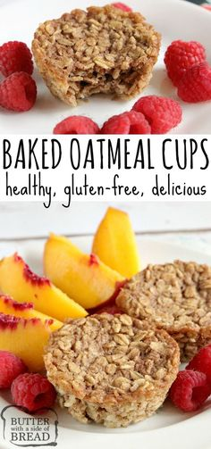 Recipes Quick Baked Oatmeal Cups are healthy, delicious and perfectly pre-portioned for a quick breakfast on the go! This baked oatmeal recipe is wonderful to make in advance and then can be enjoyed any time you need a fast, easy and nutritious breakfast. Healthy Breakfast On The Go, Nutritious Breakfast, Healthy Breakfast Smoothies, Yummy Easy Breakfast, Breakfast To Go, Quick Breakfast Ideas, Breakfast Muffins, Breakfast Casserole, Healthy Oatmeal Recipes