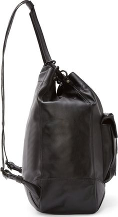 Rag & Bone Black Leather Grayson Backpack