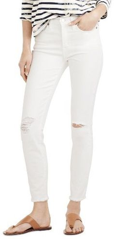 1c7ce154e69a1 Distressed white jeans are one of my favorite summer fashion trends this  season!