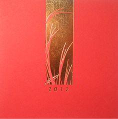 """Cartes de voeux - modèle """"Pékin"""" 2012 (dorure à chaud sur papier couleur) © COPY-TOP"""