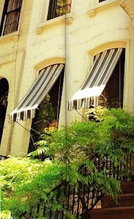black and white awnings