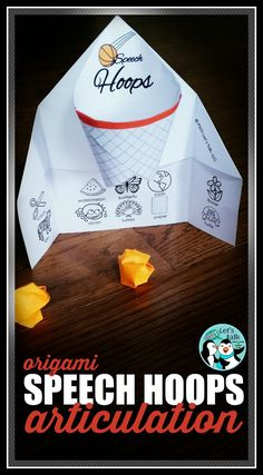 Speech hoops are a SLAM DUNK in therapy! Even those hard-to-please speech kids LOVE this basketball origami activity for articulation!