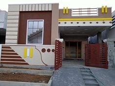 New Independent House Lakhs); near: Nagaram, Secunderabad 9989057856 House Front Wall Design, House Outer Design, Front Door Design Wood, Modern Small House Design, House Outside Design, Village House Design, Door Gate Design, Simple House Design, Bungalow House Design