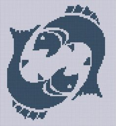 Looking for your next project? You're going to love Zodiac Pisces 2 Cross Stitch Pattern  by designer Motherbeedesigns. - via @Craftsy