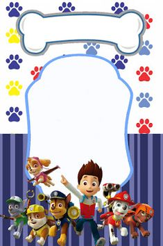 Paw patrol party for boy Paw Patrol Party Invitations, Imprimibles Paw Patrol, Paw Patrol Birthday Theme, Paw Patrol Decorations, Cumple Paw Patrol, Paw Patrol Stickers, Paw Patrol Cake, Birthday Decorations, Party Themes
