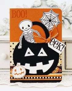 BOO! EEK! Card by Melissa Phillips for Papertrey Ink (August 2012)