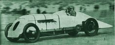 Landspeed record: J.G. Parry-Thomas driving this car called Babs, at a speed of 171.02 mph (273.6 km/h).