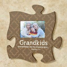 Grandkids Quote Photo Frame Brown