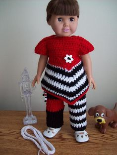 Free crochet pattern for A18 inch doll. Pinned from original source.
