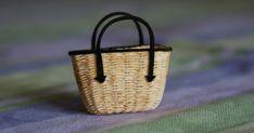 Miniaturowe szaleństwa: Francuski kosz na zakupy - tutorial. A French shopping basket tutorial.
