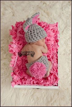 Items similar to Baby Crochet Bunny Easter Set Spring Hat and Diaper Cover Set Halloween -Treasured Little Creations on Etsy Crochet Bebe, Easter Crochet, Baby Girl Crochet, Crochet Bunny, Crochet Baby Hats, Cute Crochet, Crochet For Kids, Baby Kostüm, Baby Kind