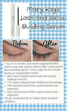 7c28ebbf364 Mary Kay® Lash & Brow Building Serum® - Improves the overall appearance of  lashes, leaves brows looking healthier. See results in just 30 days.