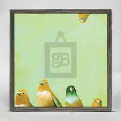 """Family of Feathers"" Mini Framed Canvas from GreenBox Art + Culture. Size - 6''x6''. Price - $29.98. Rustic frame color is predetermined. Browse our entire collection of Mini Framed Canvases for the home!"