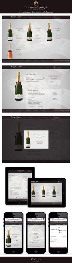 Il vous est désormais possible de commander les cuvées de la Maison de Champagne Beaumont des Crayères grâce à la boutique en ligne conçue par Vinium. Une création sur-mesure : Couponing, option étuis, encarts promotionnels, M-Commerce et adaptation tablette. www.champagne-beaumont.com/fr/boutique #boutiqueenligne #ecommerce #mcommerce #wine #venteenligne #champagne