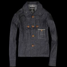 UNIONMADE - NIGEL CABOURN - 1940's Chest Pocket Shirt Jacket in Indigo