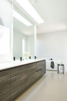 Hamlan Homes bathroom Liberty Home, Elegant Homes, Powder Room, Double Vanity, New Homes, House Design, Mirror, Bathrooms, House Ideas