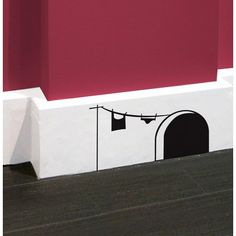 Mouse House wall decal. Or use paint. So cute!