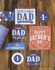 Father's Day Printable Labels