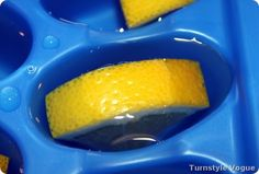 Garbage Disposal Cleaner - Frozen Lemon and Vinegar Cubes - Click image to find more DIY & Crafts Pinterest pins