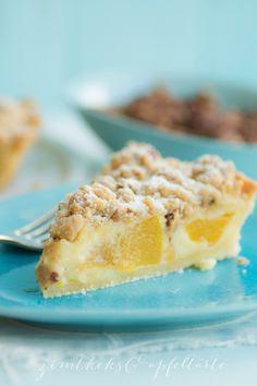 Pfirsich-Schmand-Pie mit Pekan-Streuseln - Zimtkeks und Apfeltarte