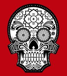 Sugar skull art. CALACA/POLERAS