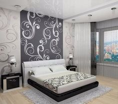 Best Bedroom wall designs- home interior wall decoration ideas 2019 Bedroom Wall Designs, Bedroom False Ceiling Design, Home Room Design, Master Bedroom Design, Home Decor Bedroom, Living Room Decor, Pink Bedrooms, Paint Colors For Living Room, Wall Decor