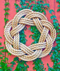 Nautical Turks Head Sailor Knot Wreath